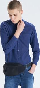 Niebieska koszula Cropp w stylu casual z długim rękawem
