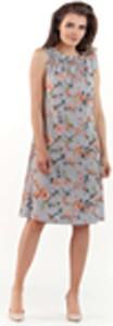 Sukienka Lou-Lou z okrągłym dekoltem trapezowa