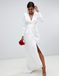 Sukienka Asos Edition z długim rękawem maxi