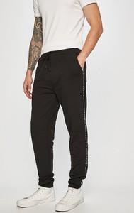 Czarne spodnie Guess Jeans z dzianiny