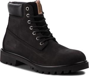 Buty zimowe Big Star w militarnym stylu sznurowane z nubuku