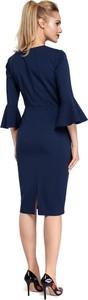 Niebieska sukienka Merg ołówkowa midi
