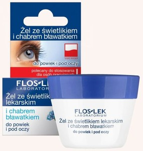 Floslek Pielęgnacja oczu żel ze świetlikiem i chabrem do powiek słoik 10 g