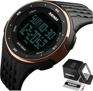 Zegarek MĘSKI sportowy SKMEI 1219 CHRONOGRAF gold