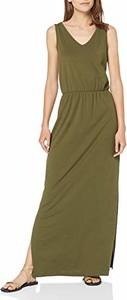 Sukienka amazon.de prosta z dekoltem w kształcie litery v maxi