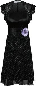 Sukienka Fokus w stylu retro rozkloszowana z szyfonu