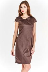 Sukienka Fokus ołówkowa z dekoltem w kształcie litery v z krótkim rękawem