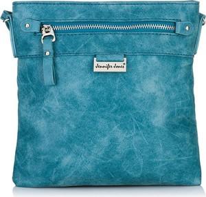 Niebieska torebka JENNIFER JONES na ramię w stylu casual duża