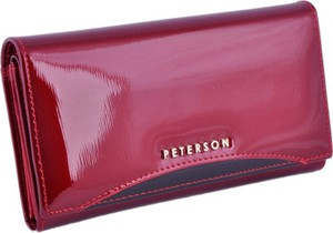 6349eda1b669d peterson portfel damski czerwony - stylowo i modnie z Allani