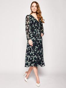 Sukienka Ralph Lauren z długim rękawem w stylu casual z dekoltem w kształcie litery v