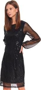 Sukienka Top Secret z tiulu z długim rękawem mini