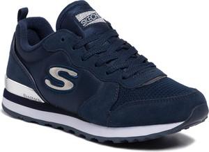 Sneakersy Skechers na platformie sznurowane