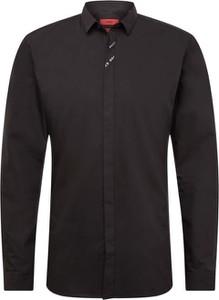 Czarna koszula Hugo Boss z bawełny
