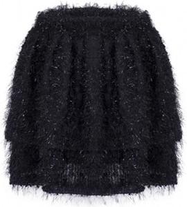 Czarna spódnica The Dot Queen mini