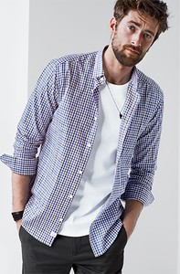 Koszula Tchibo z długim rękawem w stylu casual