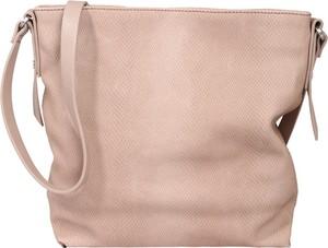 Różowa torebka Esprit ze skóry