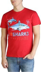 T-shirt Yes Zee z bawełny z krótkim rękawem w młodzieżowym stylu