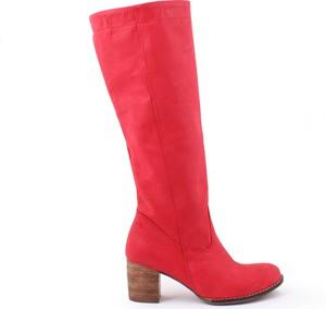 Zapato kozaki - skóra naturalna - model 154 - kolor czerwony