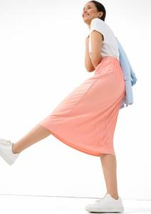 Różowa spódnica ORSAY w stylu casual midi z tkaniny