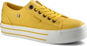 Żółte trampki Big Star sznurowane