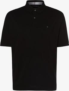 Czarna koszulka polo Tommy Hilfiger z krótkim rękawem w stylu casual