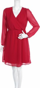 Sukienka Tamaris z długim rękawem mini z dekoltem w kształcie litery v