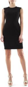Czarna sukienka Pinko mini z okrągłym dekoltem bez rękawów