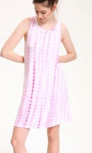 Sukienka Troll z okrągłym dekoltem oversize mini