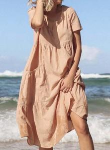 Sukienka Sandbella z krótkim rękawem w stylu boho