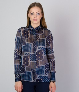 Granatowa koszula Willsoor w stylu casual
