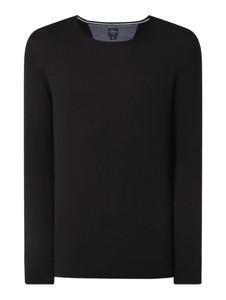 Czarny sweter S.Oliver Red Label z bawełny