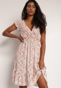 Sukienka Renee w stylu casual z dekoltem w kształcie litery v z krótkim rękawem