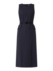 Granatowa sukienka MaxMara bez rękawów