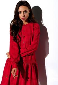 Czerwona sukienka Lemoniade mini z długim rękawem