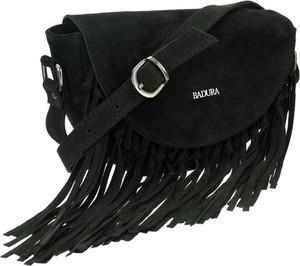 Czarna torebka Badura na ramię w stylu boho średnia