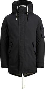 Czarna kurtka Jack & Jones z bawełny