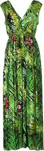 Sukienka Multu z dekoltem w kształcie litery v maxi bez rękawów