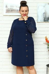 Sukienka KARKO z długim rękawem ołówkowa z tkaniny