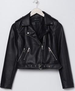Czarna kurtka Sinsay w rockowym stylu krótka