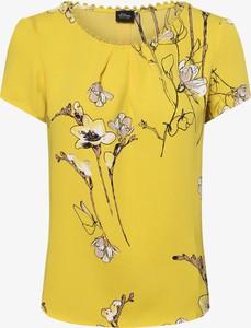 Żółta bluzka S.Oliver Black Label z okrągłym dekoltem w stylu boho