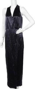 Czarna sukienka TIBI z dekoltem w kształcie litery v maxi
