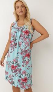 Sukienka born2be w stylu casual na ramiączkach z okrągłym dekoltem