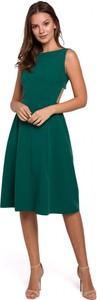 Zielona sukienka Makover midi bez rękawów