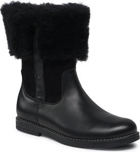 Czarne buty dziecięce zimowe Froddo dla dziewczynek