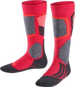 Czerwone skarpetki Falke dla chłopców