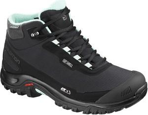 Czarne buty trekkingowe Salomon, kolekcja wiosna 2020