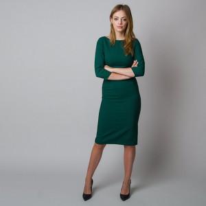 Zielona sukienka Willsoor midi z długim rękawem dopasowana