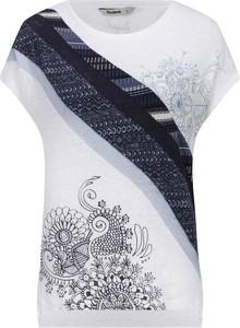 Bluzka Desigual z okrągłym dekoltem z krótkim rękawem