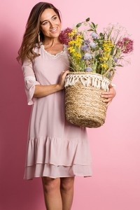 Sukienka Style mini w stylu boho z szyfonu