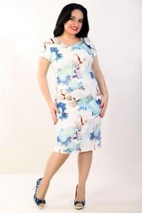 c7acdc3d5c Sukienka Exclusive Line w stylu casual z krótkim rękawem z okrągłym dekoltem